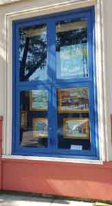 Clifton Market Window Box Gallery showing works by Tom Lohre.