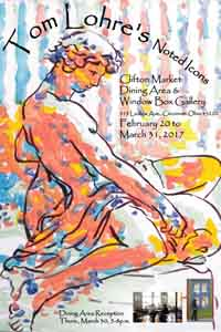 Poster for Clifton Market Art Show by Tom Lohre.