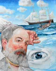 Tom Lohre painted as Ahab in the last chapeter of Moby Dick.
